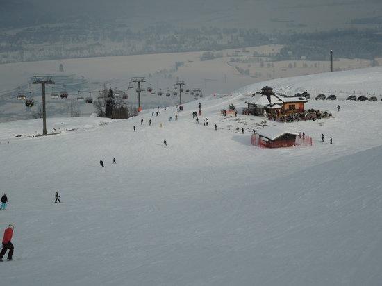 Marco Polo Club Happy:                                     Hotel Club Happy, Kaprun's own ski runs on edge of village,