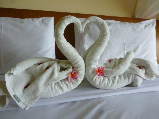Biyukukung Suites and Spa: decoracion de bienvenida