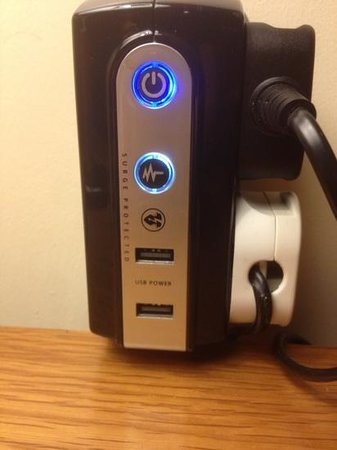 A Park View Hotel :                   look at that , a regulated USB charging station ....LUSH