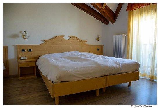 Hotel Rosa Alpina:                   il nostro comodo letto