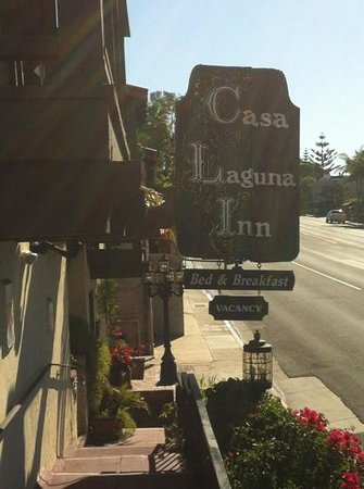 Casa Laguna Hotel & Spa:                   Vintage sign in the sunshine.