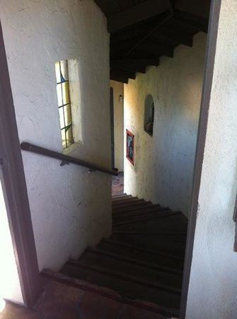 Casa Laguna Hotel & Spa:                   Stairwell to top of tower, classic mission-style.