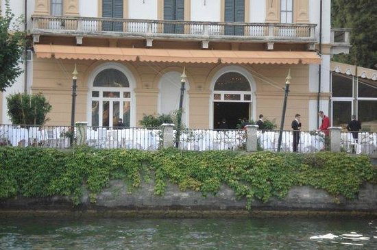 Villa d'Este:                   Restaurant Veranda--view from the lake