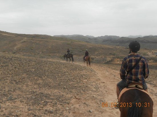 El Salobre Horse Riding :                                     Out on the trail with the other rider's