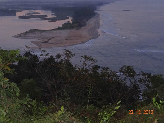 Sai Vishram Byndoor:                   View from nearby hill on backwaters nearby