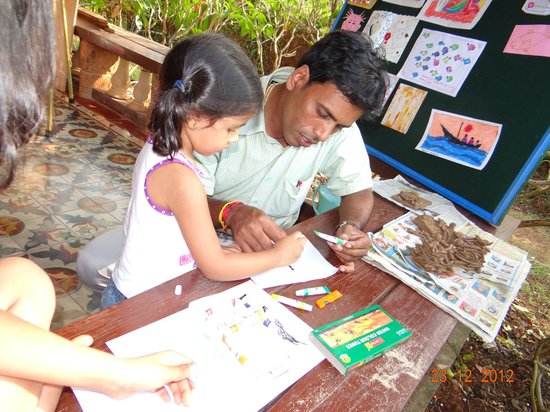 Sai Vishram Byndoor:                   Art classes going on for engaging kids