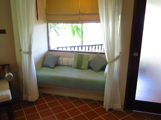 Aonang Princeville Resort:                   Cosy sofa with curtains