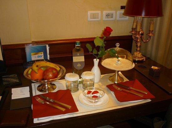 Hotel Raphael:                   Le plateau d'accueil