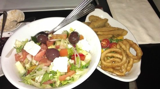 El Greco: Calamari, Whitebait, Greek salad
