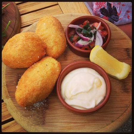 Q Seafood Provedore:                   Rockling croquettes