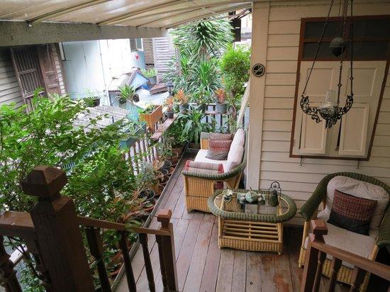 Baan Chantra:                   Jardin intérieur