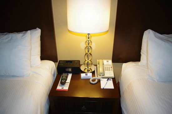 Comfort Inn Downtown:                   I-pad station, phone and remote