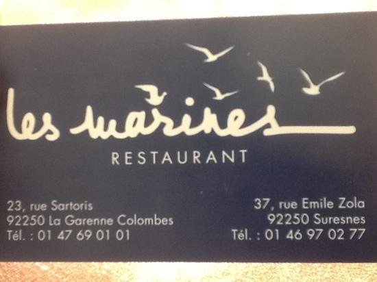 Restaurant Les Marines, La Garenne Colombes