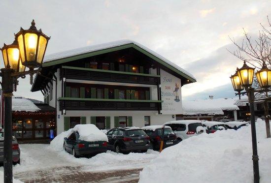 Hotel Zum Postillion:                   Ansicht von der Straße
