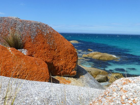 Bay of Fires Character Cottages:                   Great Rocks at the beach