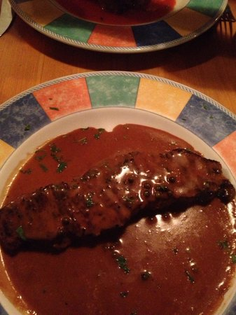 Villa Positano: Sirloin with pepper sauce