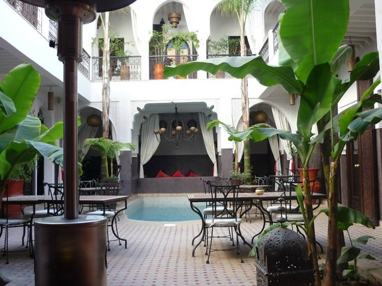 Riad Pachavana:                   The central courtyard