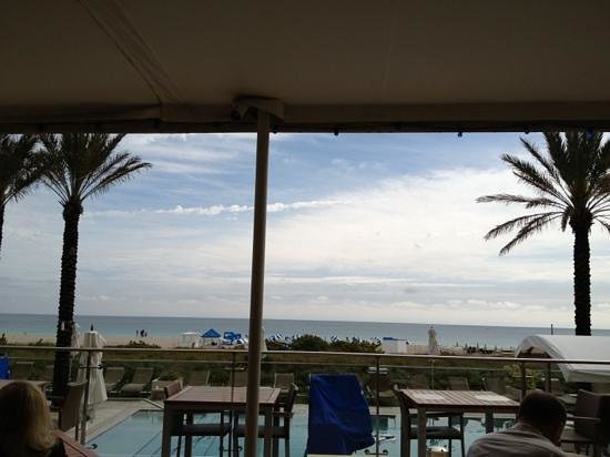 Marriott Stanton South Beach:                   View from the restaurant