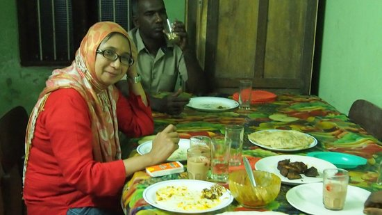Tantraa Home Stay :                                     At Siyad House for dinner