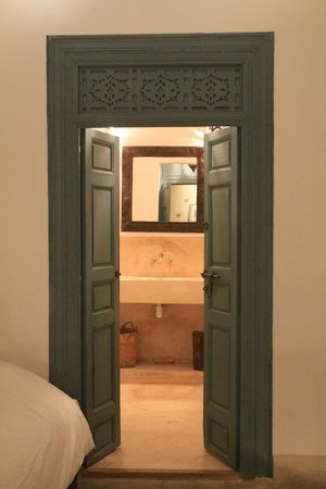 Dar Tchaikana:                   The bathroom door in Yuba