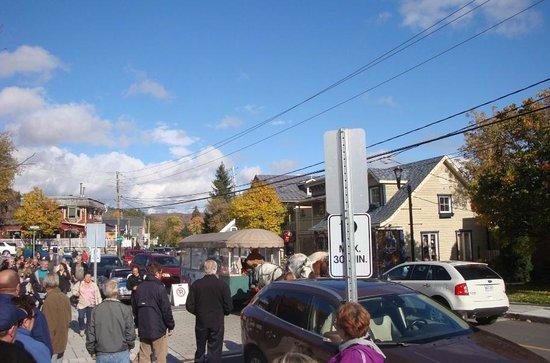 Mont Saint-Sauveur :                   People walking
