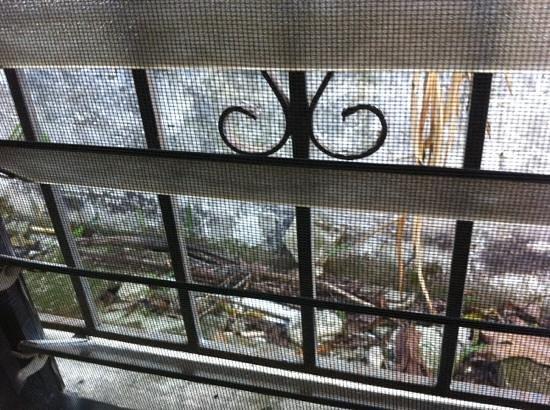 Hotel Kaoba:                                     vistas ventana habitacion, al otro lado del muro hay un corr