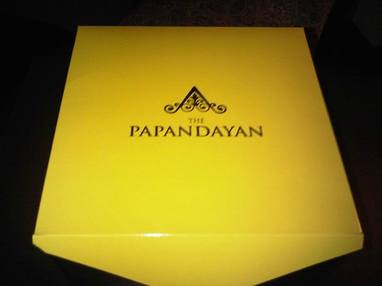 The Papandayan:                   cake box