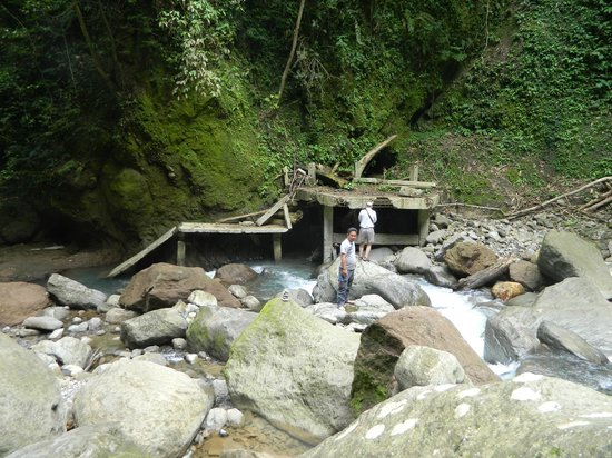 Casaroro Falls:                   residues of the typhoon ruined concrete way to the Falls