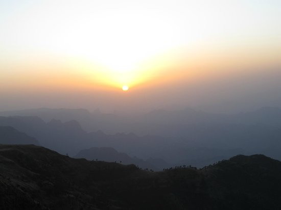 Simien Mountains National Park:                                                       Sunset in Simiens
