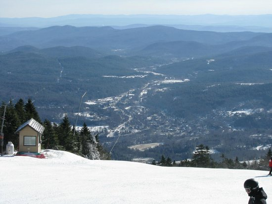 Okemo Mountain Resort:                   Ludlow VT from the top