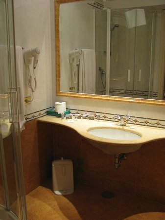 Leonardi Sistina Hotel:                                     The bathroom