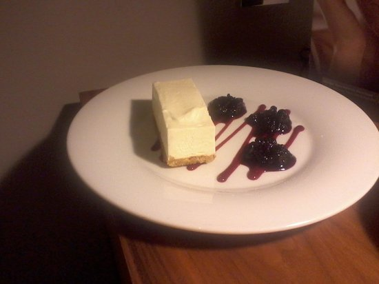 Apex Waterloo Place Hotel:                   lovely room service dessert, vanilla cheesecake