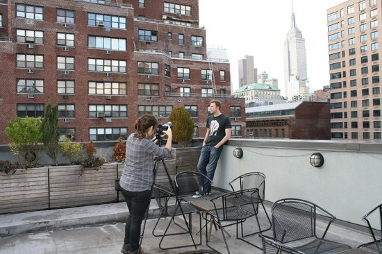 The Marcel at Gramercy: time.com shoot on the rooftop common area