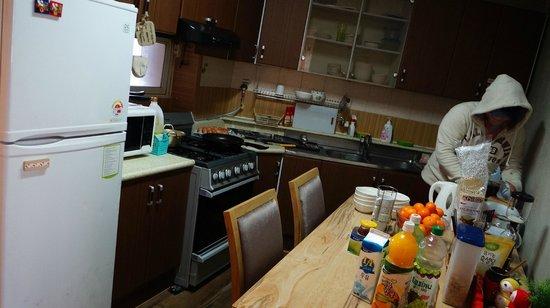 U & I Hostel:                   It's U&I hostel's dining room