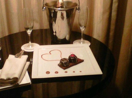 "Sofitel Washington DC:                   We opted for the ""Romance Package"" and this was one of the many surprises!"