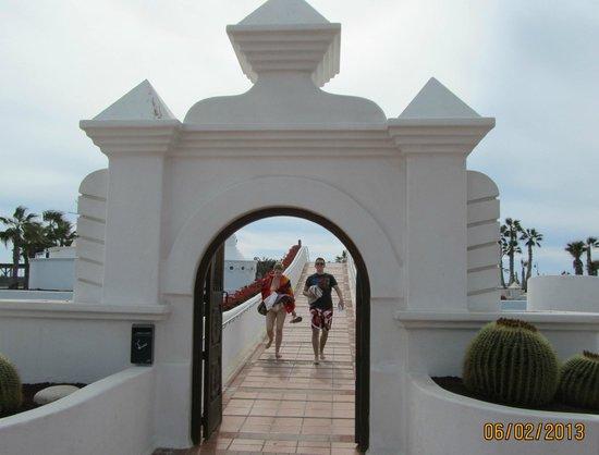 Sands Beach Resort:                   Bridge to Mai Tai Bar and pool