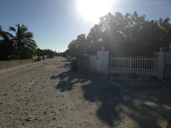 Atlantic Ocean Beach Villas:                   The little road between the villas (few cars)