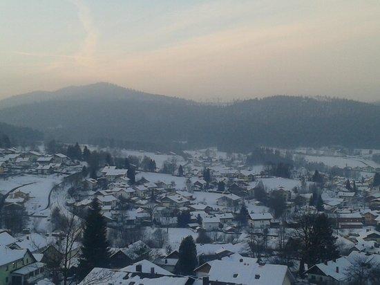 Villa Montara Bed & Breakfast:                   Ein winterlicher  Blick herab auf Bodenmais.