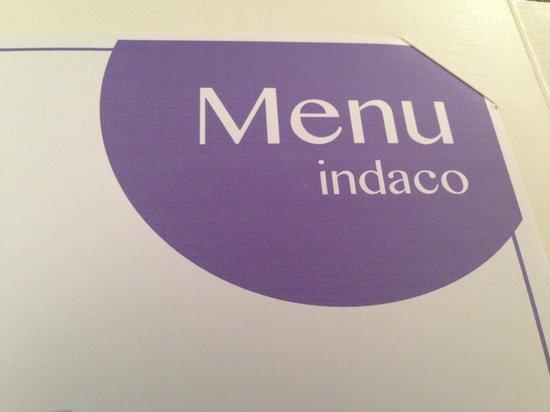 Pallino:                   Il menù Indaco
