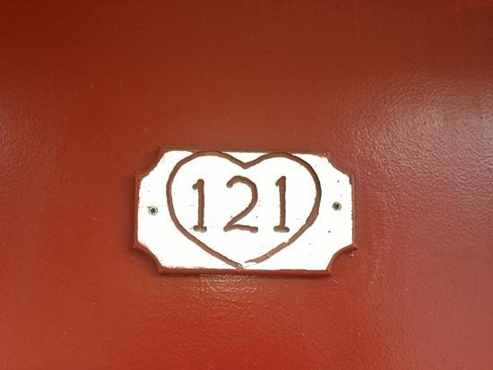 Riverbend Motel & Cabins :                   cute room numbers too!
