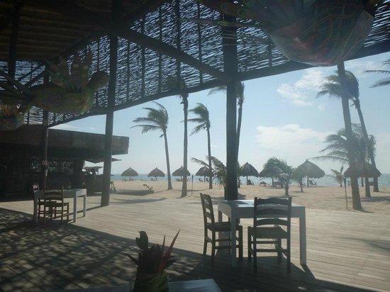 Hotelito Desconocido:                   Where you eat lunch, on beach side