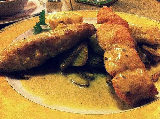 My typical Hamburg fish dinner at Zum Brandanfang