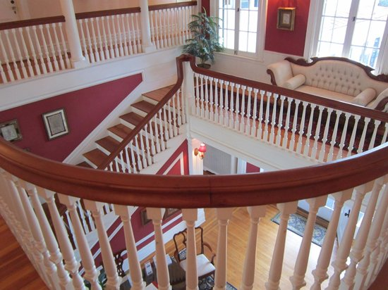 Rosemont Manor:                   Interior of the manor, grand staircase