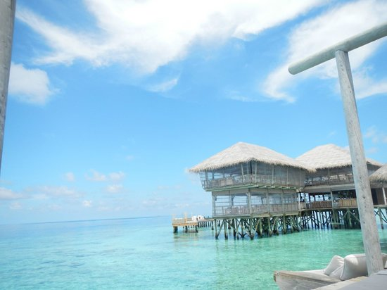 Six Senses Laamu:                   The view from the Chill Bar