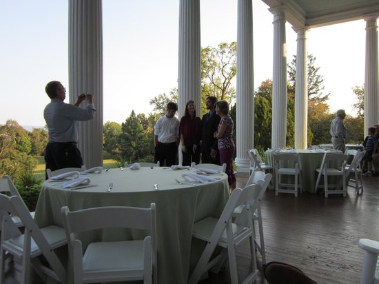 Rosemont Manor:                   The rehearsal dinner on the porch
