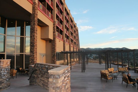Prescott Resort & Conference Center:                   Hotel viewing deck