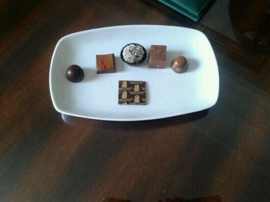Powerscourt Hotel, Autograph Collection:                   chocolates on arrival