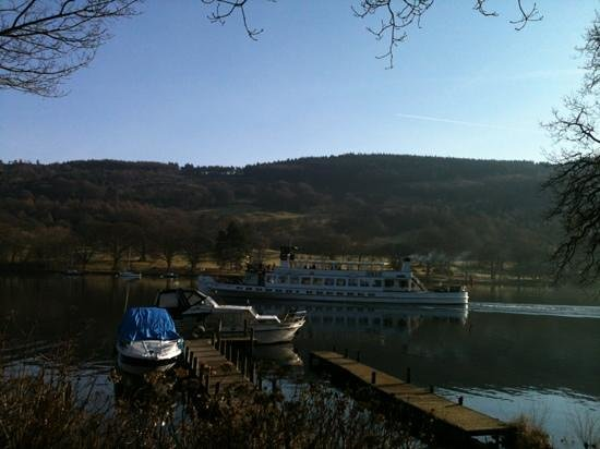 Lakeside Hotel:                                     view from the terrace garden