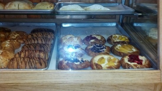 Michaels Kitchen Cafe & Bakery:                   The pastry cabinet at Michaels kitchen, Taos, New Mexico