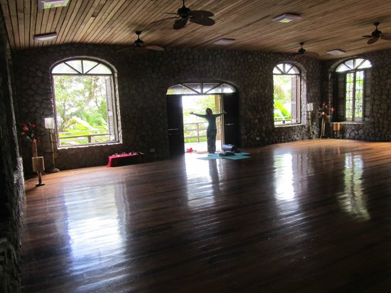 Jungle Bay, Dominica:                   Yoga studio